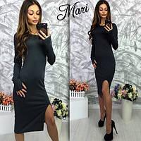 Женское платье материал трикотаж