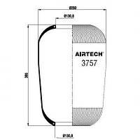 Пневморессора Contitech 757N
