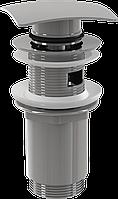 Водослив для умывальника click/clack 5/4 AlcaPlast A393 цельнометаллический с квадратной заглушкой