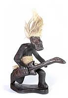 """Папуас """"Гитарист"""" дерево (15х13х5 см)"""
