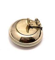 Пепельница карманная бронзовая (d-4,h-2,5 см)