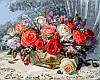 Картины по номерам 50×65 см. Розы на веранде