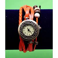 """Женские наручные часы-браслет с бусинами, шнурами и подвесками """"Морская звезда"""", красный"""