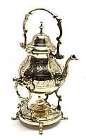 Чайник бронзовый с горелкой на подставке (30,5х19х16 см)