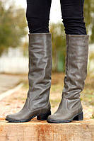 Сапоги женские кожаные / Women's high boots leather, фото 1