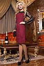 Красиве та елегантне плаття р. від 44 до 50, замша еко, бордо, фото 2