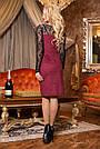 Красиве та елегантне плаття р. від 44 до 50, замша еко, бордо, фото 3