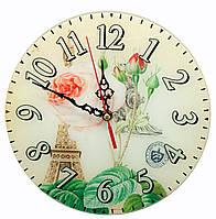 """Часы настенные """"Париж"""" стекло (d-25 см)(тихий ход)"""