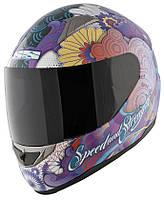 Мотошлем Speed & Strength SS1100 Flower Power фиолетовый M
