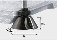 Фреза для снятия фаски с режущей кромкой внизу и опорным подшипником HW D66,5 /30°SS S12 Festool 492667