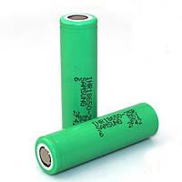 Аккумулятор 18650 / IMR / 2500 mAh / без защиты / 35 А / плоский + / Samsung 25R