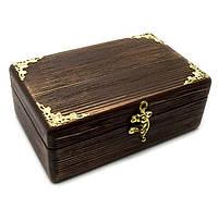 """Шкатулка деревянная """"Антик"""" (20,5*12,5*8 см)(ольха, липа)"""