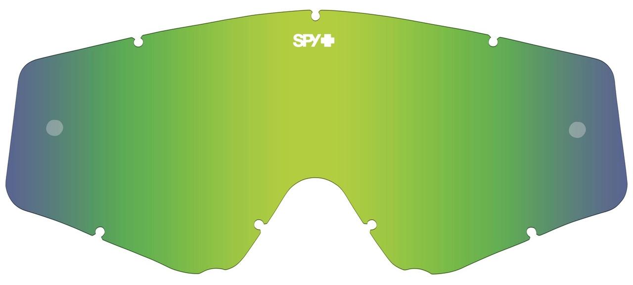 Линза для кроссовых мотоочков SPY+ Omen, зеркально зеленая
