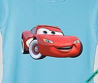 Наклейка на ткань Машина красная [7 размеров в ассортименте]