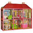 Кукольный двухэтажный домик 6983 с мебелью, 6 комнат, фото 2