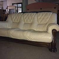 Мягкая кожаная мебель Гризли. Диван тройка.