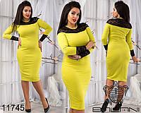 Женские платья больших размеров 48-54 11745 3 цвета