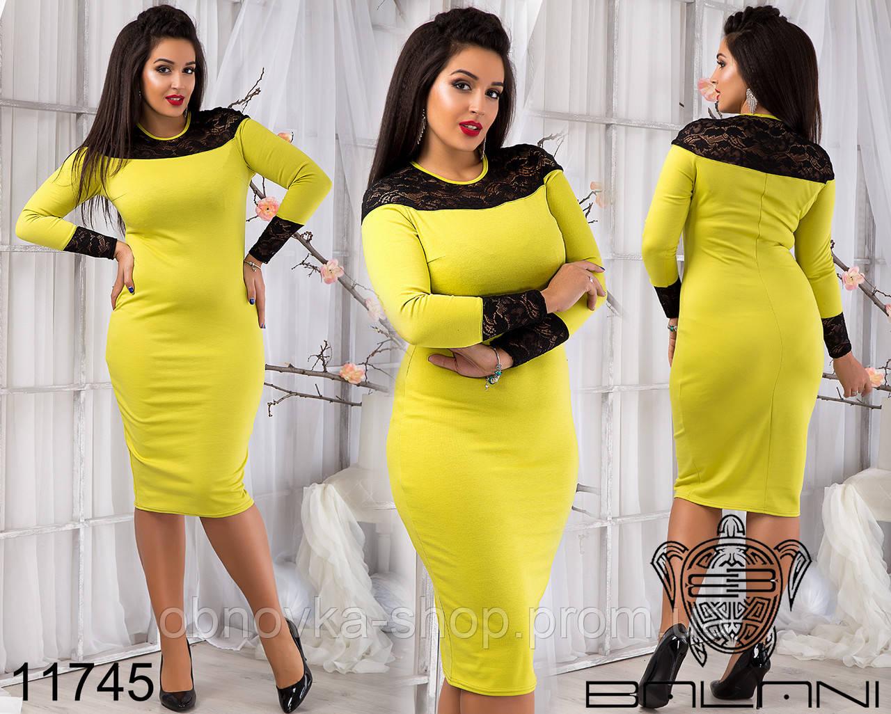 a08346c3297 Женские платья больших размеров 48-54 11745 3 цвета - Интернет-магазин  одежды и