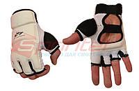 Перчатки тхэквандо PU М (белый)