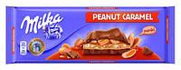 Молочный шоколад Milka Peanut Caramel Riesentafel 276 гр