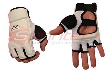 Перчатки тхэквандо PU XL (белый)