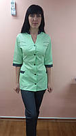 Коттоновый медицинский костюм на пуговицах