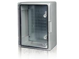 Пластиковый щит  IP44 влагозащищенный щит с монтажной панелью 400х600х200 прозрачная дверца цена купить