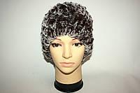 Женская шапка, натуральный мех (вязаная), фото 1