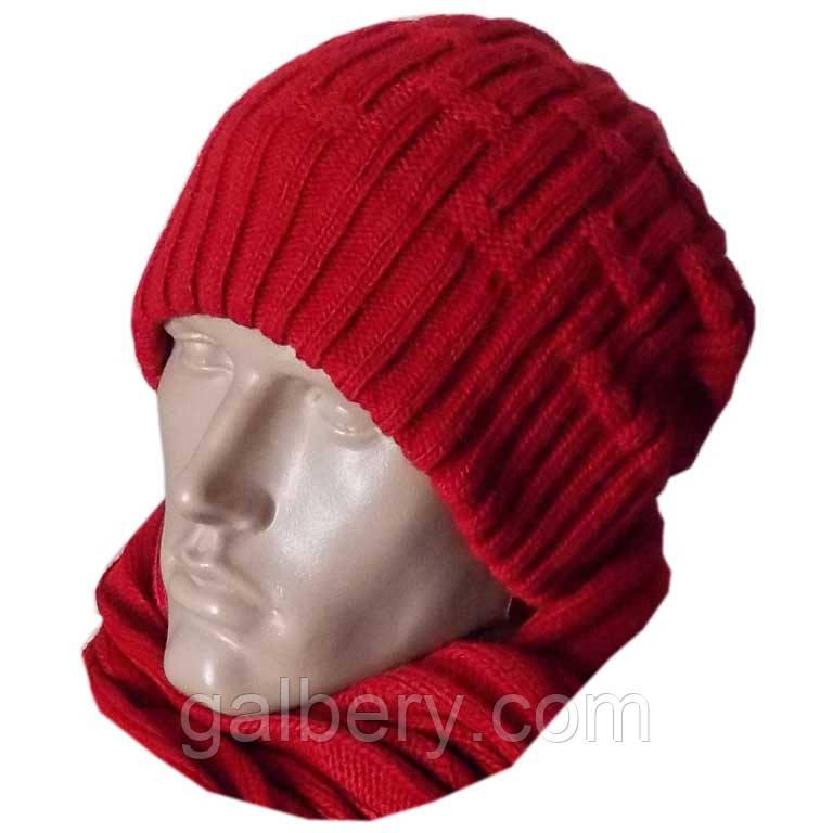 Зимняя облегченная шапка носок