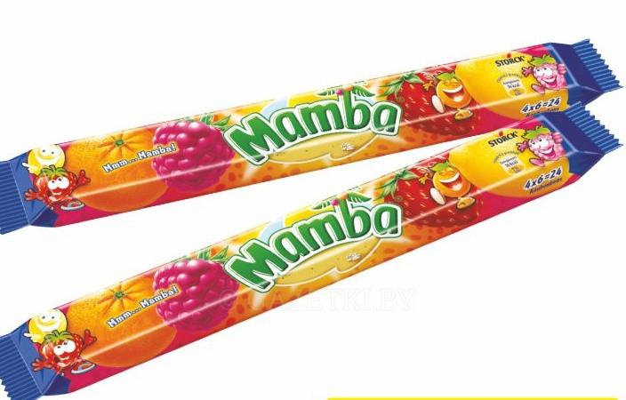 Жевательные конфеты Mamba (Мамба) 106 г. Польша