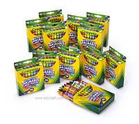 Восковые карандаши большие утолщённые для малышей  Crayola Ultra Clean Large Crayons Смываемые 16 штук