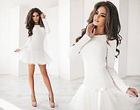 Женское платье материал французский трикотаж + фатин