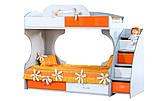 Модульная мебель Пионер-С Кровать 2-х ярусная с ящиками на роликах и вкладами Пионер Lа, фото 3