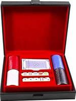 Набор для игры в покер в кожаном кейсе Duke SG3040