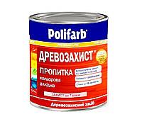 Грунтовка антисептическая POLIFARB ДРЕВОЗАХИСТ для древесины бесцветная, 3,5кг