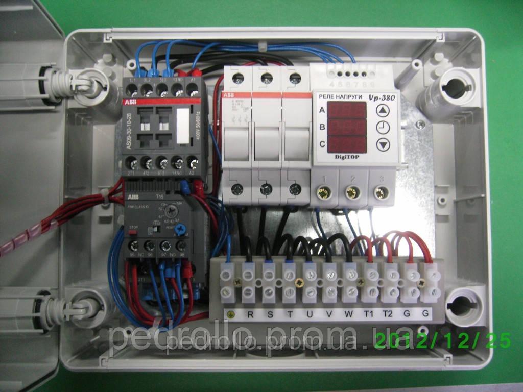 Схема пульта управления насосом pedrollo