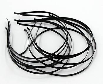 Ободки для волос 0.5 см, черный - 12 шт.