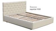 Кровать Рада 160х200 двуспальная кожаная с мягким изголовьем