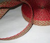 Лента декоративная 17 мм, красная