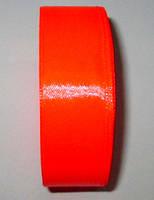 Лента атласная 2,5 см, яркая персиково-оранжевая