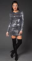 Платье женское с паетками на новый год