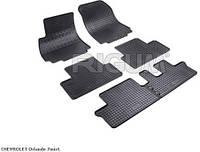 Автоковрики в салон RIGUM Chevrolet Orlando (Шевроле Орландо) 7m 11> black 6 шт , компл