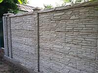Забор бетонный двухсторонний цена под ключ