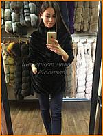 Женская шуба с замшей | Женская норковая шуба