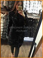 Черная норковая шуба в интернет магазине