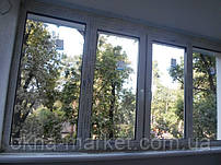 Остекление лоджии окнами Rehau по адресу: г. Ирпень ул. Минералная 7е. Бригада монтажников №5
