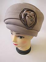 Трикотажные теплые шапки для женщин., фото 1