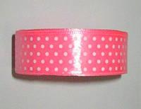 Лента Горошек 2,5 см, розовая