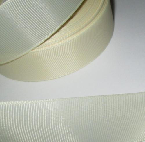 Лента репсовая 2,5 см, кремовая