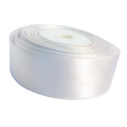 Лента атлас 4 см/1 м белая